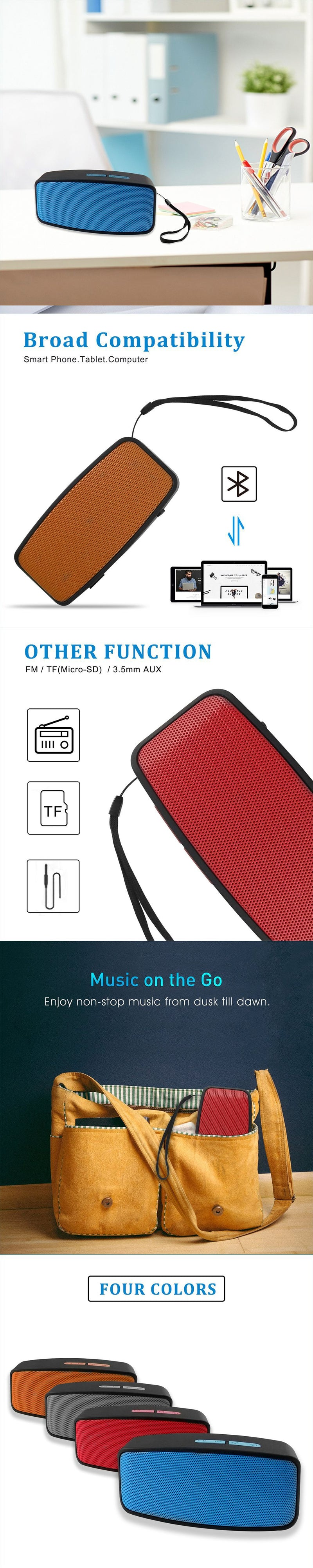 100 pieces Portable outdoor bluetooth speaker  support FM radio TF card USB