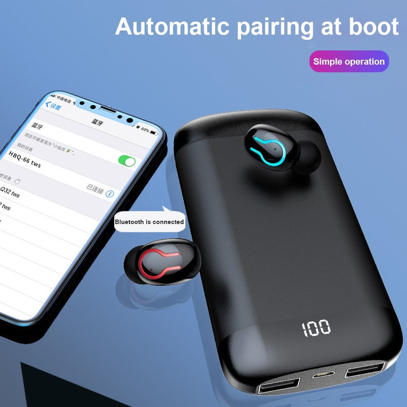 Q66 TWS Wireless Bluetooth Mini Earphone Music HiFi Stereo