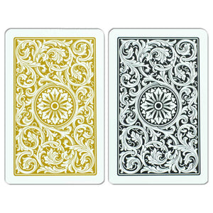 Copag 1546 Bridge Size Jumbo Index Playing Cards (Black Gold)