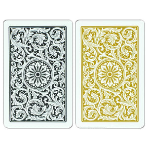 Copag 1546 Bridge Size Regular Index Playing Cards (Black Gold)
