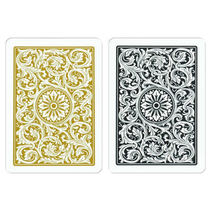 Copag 1546 Poker Size Regular Index Playing Cards (Black Gold)