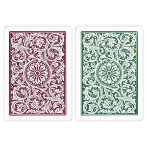 Copag 1546 Poker Size Jumbo Index Playing Cards (Burgundy Green)