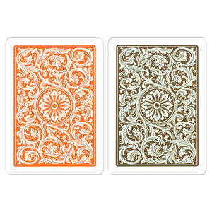 Copag 1546 Poker Size Regular Index Playing Cards (Orange Brown)