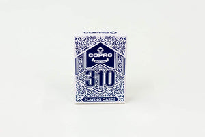 Copag 310 Blue Poker Size Regular Index True Linen B9 Finish Single Deck