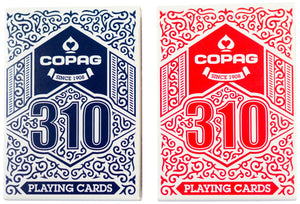 Copag 310 Dual Pack Poker Size Regular Index True Linen B9 Finish