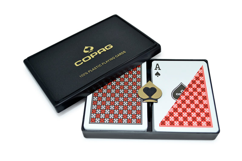 Copag Master Poker Size Regular Index Playing Cards (Black Red)