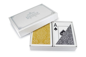 "Copag ""Unique"" Poker Size Jumbo Index Playing Cards Black/Gold"