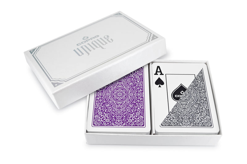 "Copag ""Unique"" Poker Size Jumbo Index Playing Cards Purple/Grey"