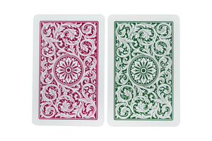 Copag 1546 Bridge Size Regular Index Playing Cards (Burgundy Green)
