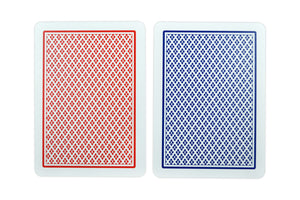 "Copag Poker Size ""Peek"" Index Playing Cards (Blue Red)"