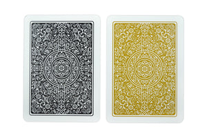 "Copag ""Unique"" Poker Size Regular Index Playing Cards Black/Gold"