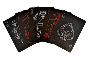 Copag 310 Pitch Black Poker Size Regular Imdex Paper Single Deck