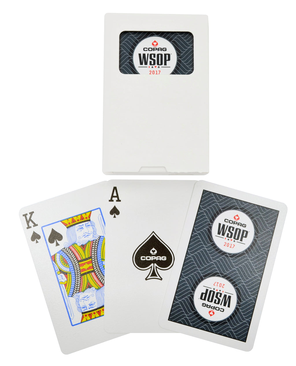 Copag 2017 WSOP Bridge Size Regular Index Playing Cards Black Single Deck