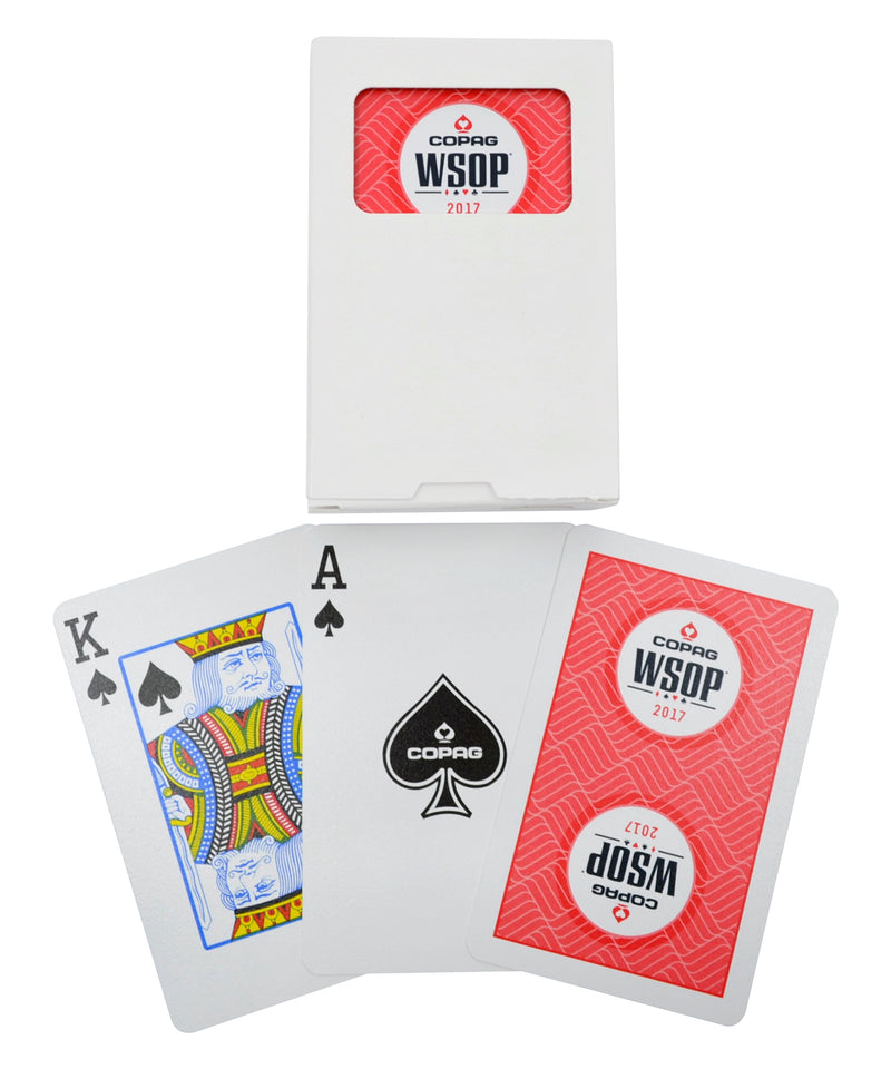 Copag 2017 WSOP Bridge Size Regular Index Playing Cards Single Deck