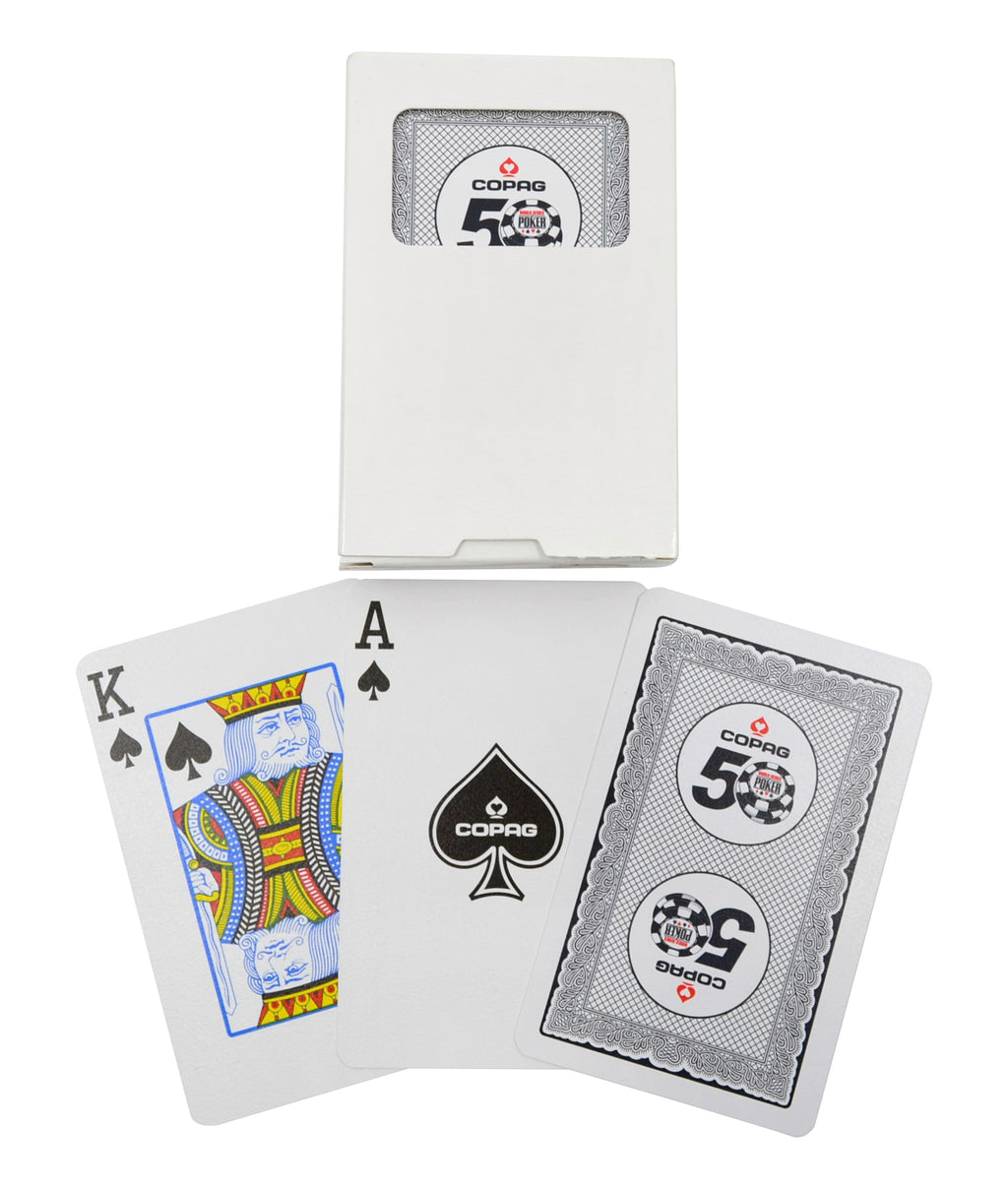 Copag 2019 WSOP Bridge Size Regular Index Playing Cards Black Single Deck
