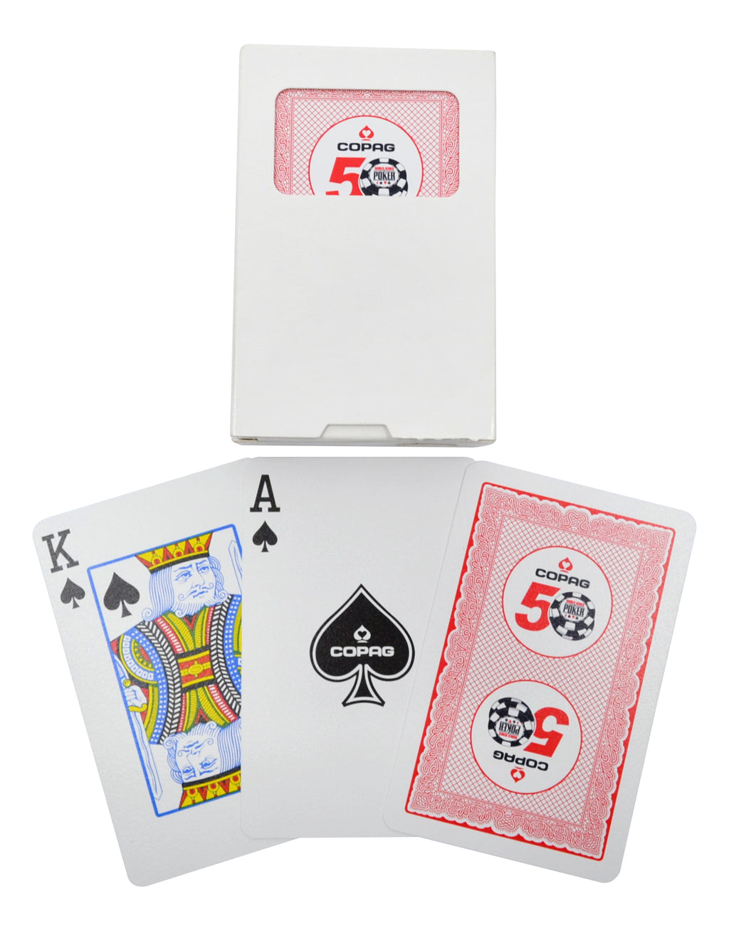 Copag 2019 WSOP Bridge Size Regular Index Playing Cards Red Single Deck
