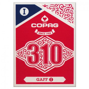 Copag 310 Gaff I Trick Deck Paper Poker Size Regular Index Single Deck (Blue Red)