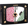 Copag 1546 Poker Size Regular Index Playing Cards (Burgundy Green)