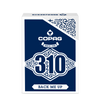 Copag 310 SLIMLINE Back Me Up Blue Poker Size Regular Index True Linen B9 Finish Single Deck