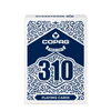 Copag 310 SLIMLINE Blue Poker Size Regular Index True Linen B9 Finish Single Deck