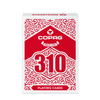 Copag 310 SLIMLINE Red Poker Size Regular Index True Linen B9 Finish Single Deck