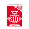 Copag 310 SLIMLINE Face-Off Red Poker Size Regular Index True Linen B9 Finish Single Deck