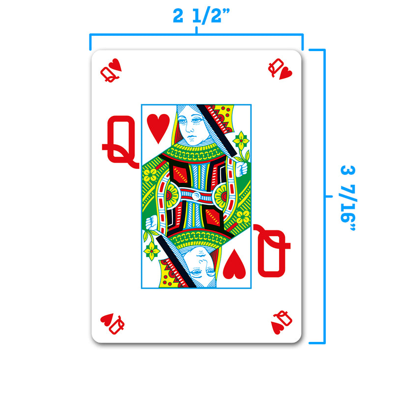 Peek Index Poker Size