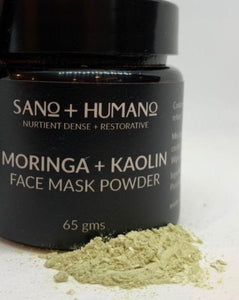 Organic Moringa + Kaolin Clay Face Mask Powder
