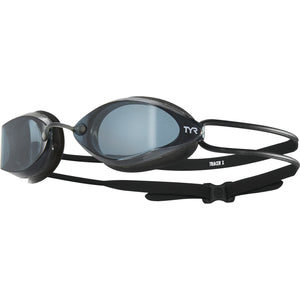 TYR Tracer-X Racing Goggle (Adult Fit - Smoke/Black)