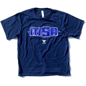 NEW! - MSA Short Sleeve T-Shirt (Navy w/MSA logo)