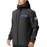 NEW! - TYR Men's Elite Hoodie (EMBROIDERED WITH MSA LOGO) - Heather Black *USA ON BACK*