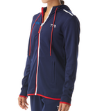NEW! - TYR Women's Alliance Full Zip Podium Hoodie (EMBROIDERED WITH MSA LOGO) - Red/White/Blue