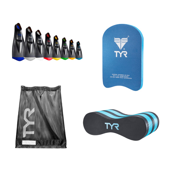 2020 MSA Equipment Bundle (Mesh Bag, Jr Pull Buoy, Jr Kickboard, Flex Fins)