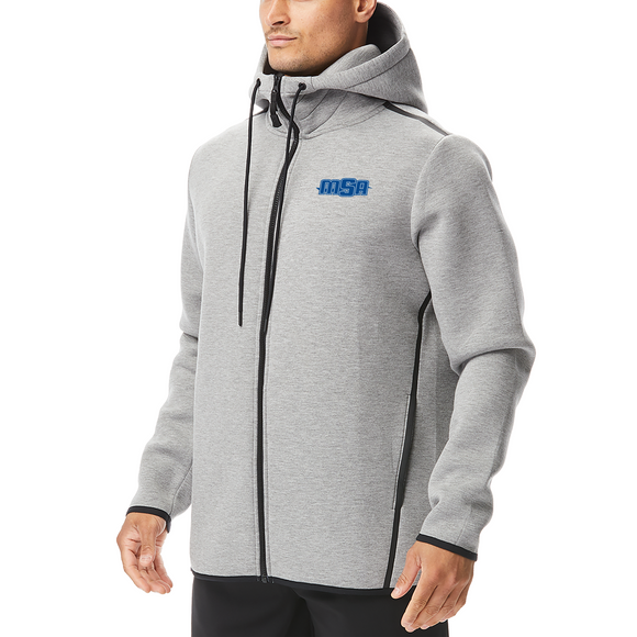 NEW! - TYR Men's Elite Hoodie (EMBROIDERED WITH MSA LOGO) - Heather Grey