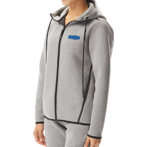 NEW! - TYR Women's Elite Team Hoodie (EMBROIDERED WITH MSA LOGO) - Heather Grey