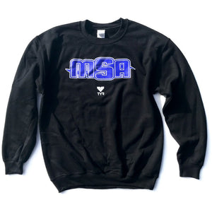 NEW! - MSA Crew Neck Sweatshirt (Black w/MSA logo)