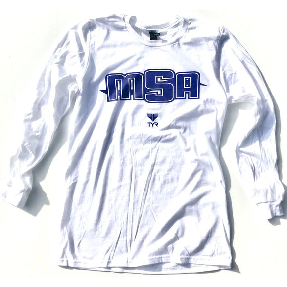 NEW! - MSA Long Sleeve T-Shirt (White w/MSA logo)