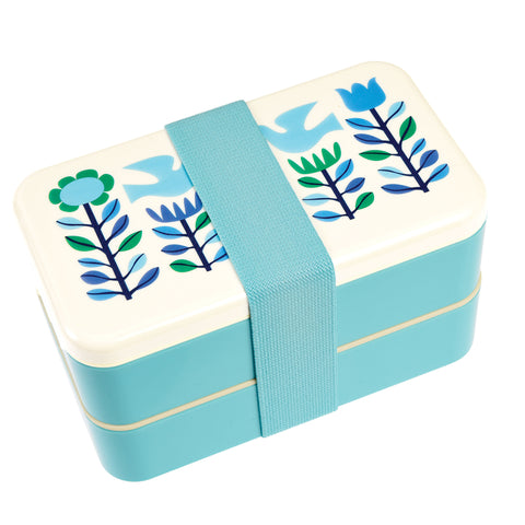 Folk Doves Adult Bento Box