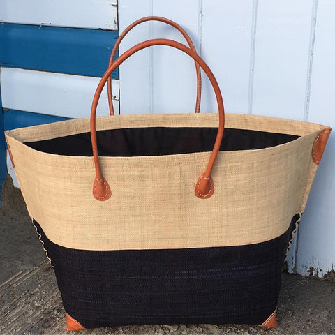 Black Madagascan Beach Basket