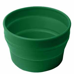 Collapsible Dog Bowl Green