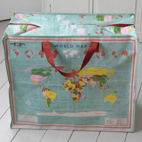 Eco Friendly Storage Bags - World Map