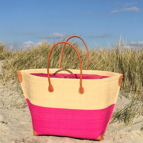 Pink Madagascan Beach Basket