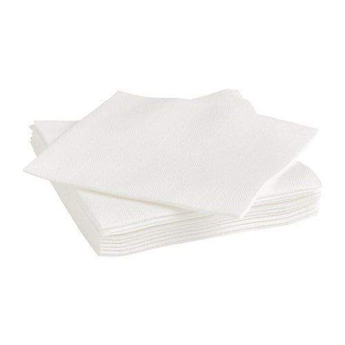 23cm PREMIUM Airlaid White Cocktail Napkins
