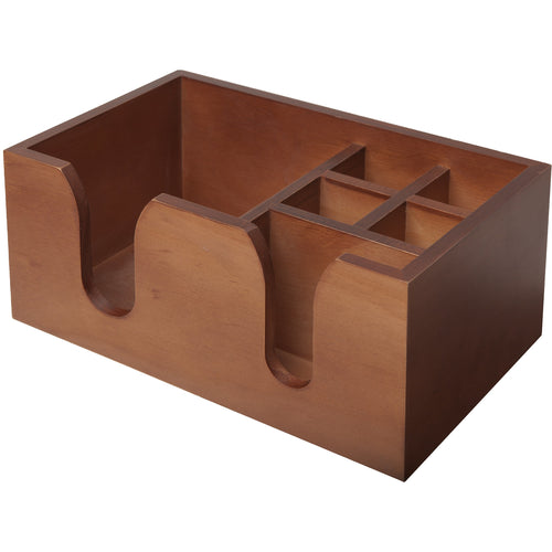Wooden Walnut Effect Bar Caddy