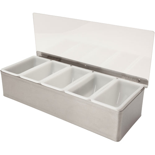 5 compartment condiment holder