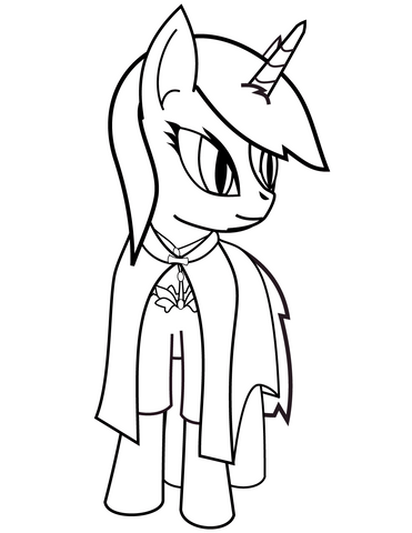 coloriage licorne super hero my little pony