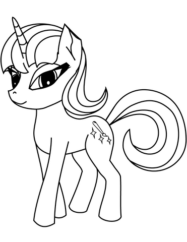 coloriage licorne my little pony