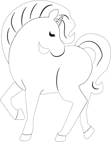 licorne coloriage simple