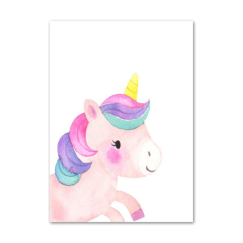 Toile Licorne Joueuse