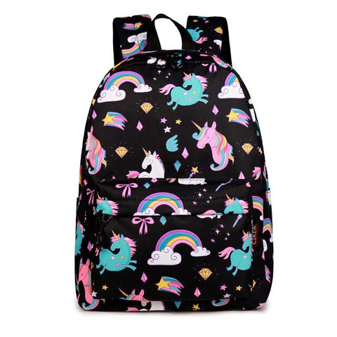 cartable licorne noir